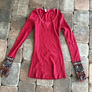 Vintage Free People stretch Long sleeve